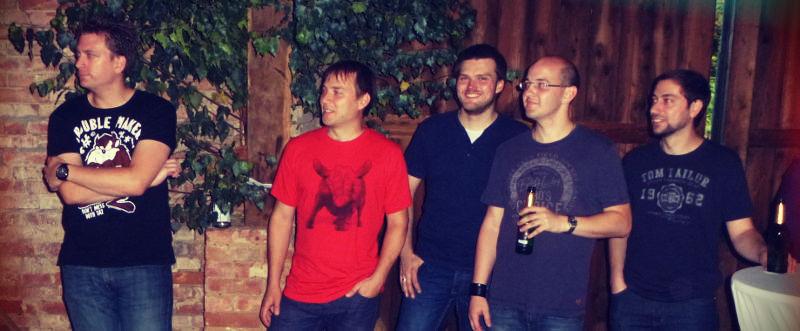 Die Bandmitglieder in Schandelah